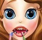 Princesa Sofia cuidar dos dentes