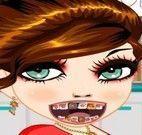 Menina cuidados com dentes