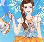 Menina fã da Elsa moda