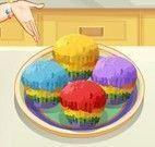 Cupcakes arco-íris da Sara