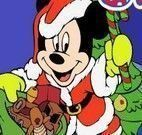 Colorir Mickey no natal