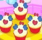 Receita de cupcakes de coração