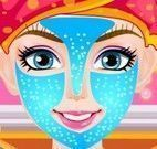 Princesa no spa limpeza facial