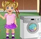 Lavar roupas com bebê
