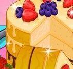 Fazer torta gelada de frutas e chocolate
