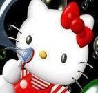 Quebra cabeça Hello Kitty bola de sabão