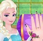 Elsa unhas decoradas