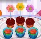 Receita de cupcakes de flores