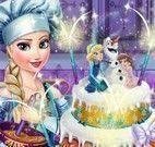 Elsa decorar bolo de casamento
