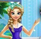 Elsa limpar sala