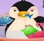 Banho do pinguim na banheira
