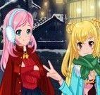Vestir amigas no inverno
