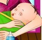 Cuidar do bebê da ásia