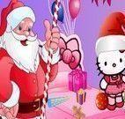 Arrumar quarto de Natal da Hello Kitty