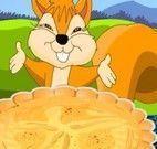 Fazer torta de maçã do esquilo