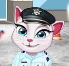 Angela roupas de polícia