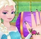 Manicure da princesa Elsa