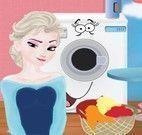 Elsa lavar e passar roupas