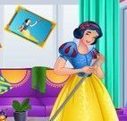 Branca de Neve faxina do quarto