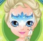 Pintura facial da Frozen bebê