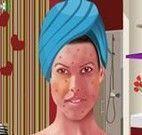 Limpeza de pele na garota
