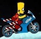Bart andar de moto