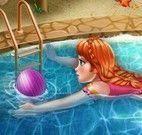 Banho de piscina da Anna