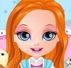 Barbie fazer bolo e cupcakes