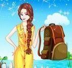 Elsa roupas de acampar