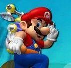 Saltar nas nuvens com Mario