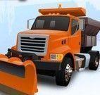 Dirigir caminhão na neve