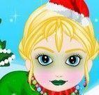 Bebê Elsa moda natalina