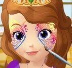 Pintar rosto da Princesa Sofia