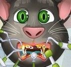 Gato virtual  Tom cuidar dos dentes
