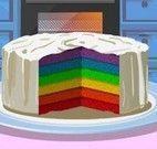 Fazer bolo arco íris