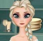 Elsa fazer hambúrguer