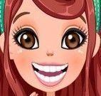 Garota na emergência no dentista
