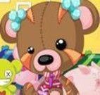 Vestir o ursinho de pelúcia