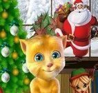 Gatinho virtual decorar natal