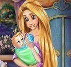 Rapunzel cuidar do bebê