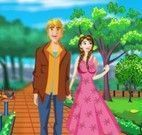 Anna e Kristoff limpar jardim