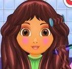 Dora no cabeleireiro