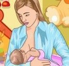 Mamãe cuidar do neném