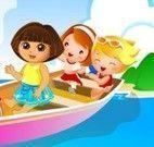 Dora aventuras no barco