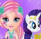 Barbie bebê cuidar da turma My Little Pony