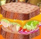 Fazer sanduíche com salada
