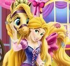 Rapunzel decorar carruagem