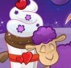 Decoração de cupcakes da ovelha