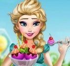 Elsa grávida sorvete