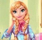 Anna Frozen roupas e maquiagem para escola